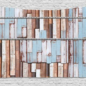 Tapestry Old Wooden Planks Wall Hanging Backdrop
